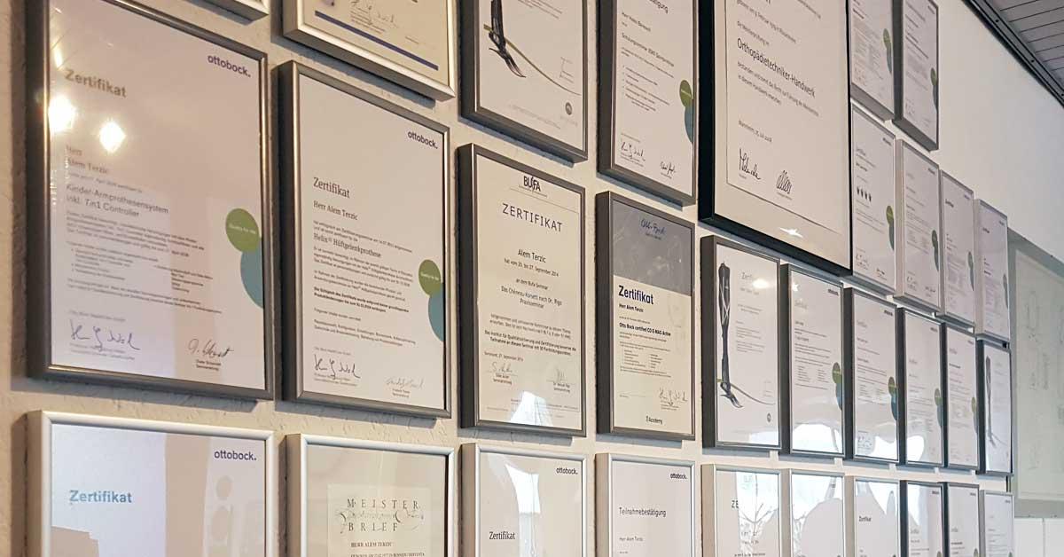 Schreiber & Ebert GmbH - Zertifikate